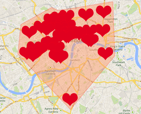 Where Is The Heart Of London?