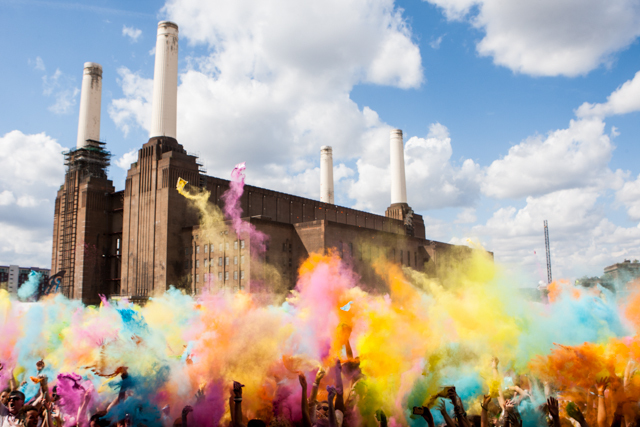 Rainbow Clouds Explode At Battersea Power Station