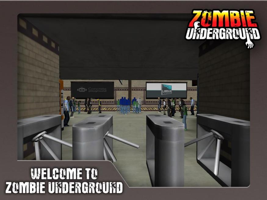 Not only are the corpses undead, but someone's also revived these long-buried ticket barriers.