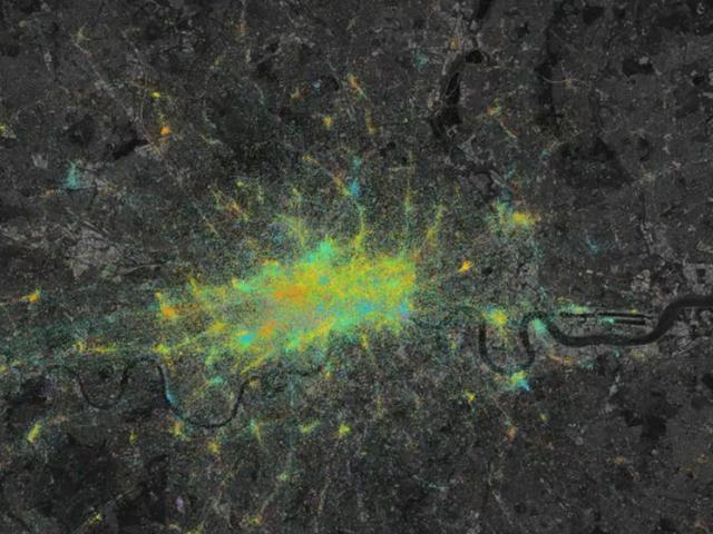Foursquare Maps London's Movements