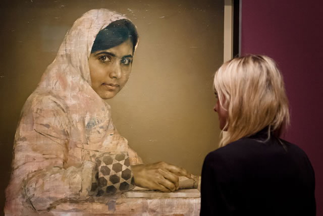 NPG Unveils New Malala Yousafzai Portrait By Jonathan Yeo