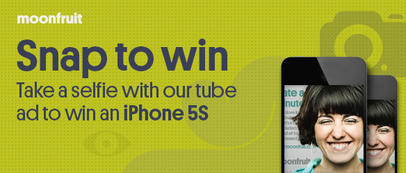 Snap A Selfie & Win An iPhone 5S With Moonfruit
