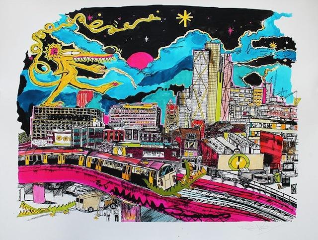 Street Artists Team Up With Shoreditch Sketcher John Dolan