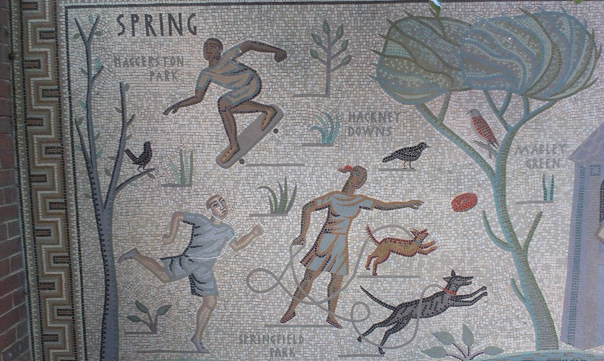 Pastoral Parklife In Hoxton: The Shepherdess Walk Mosaics