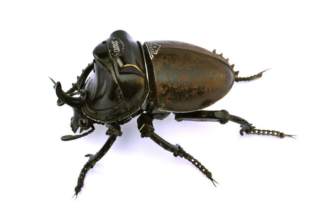 Insects Made From Bike Parts by Edouard Martinet