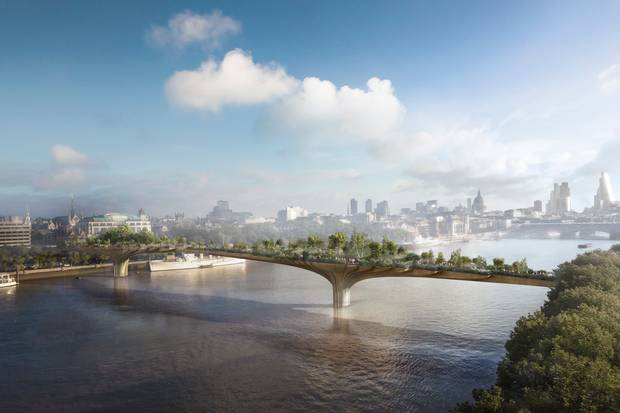 Garden Bridge Over The Thames Moves Forward