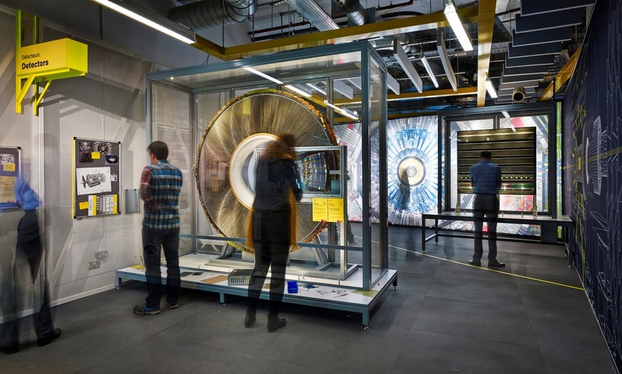 Collider. Visitors in Detection section. Courtesy Nick Rochowski for Science Museum