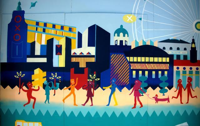 New South Bank Mural In Waterloo Station
