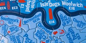 Santa's Lap: London Postcode Jigsaw Puzzle