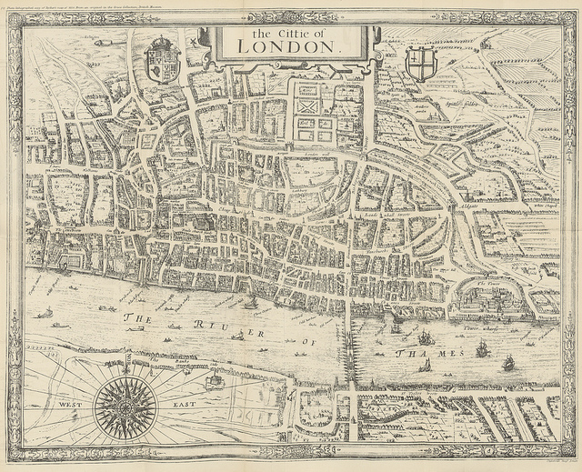 Ryther's Map of 1604. One of London's oldest maps that rarely gets published.