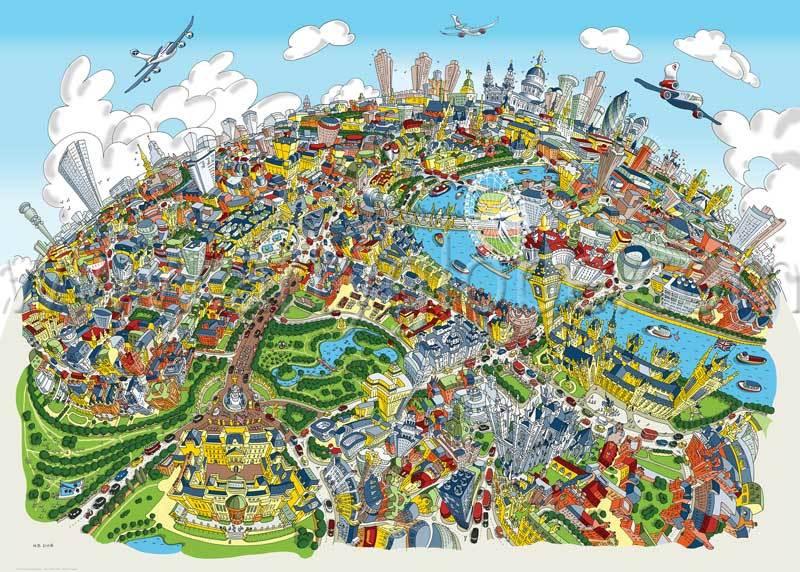 Santa's Lap: Arty Globe's Beautiful Map Art