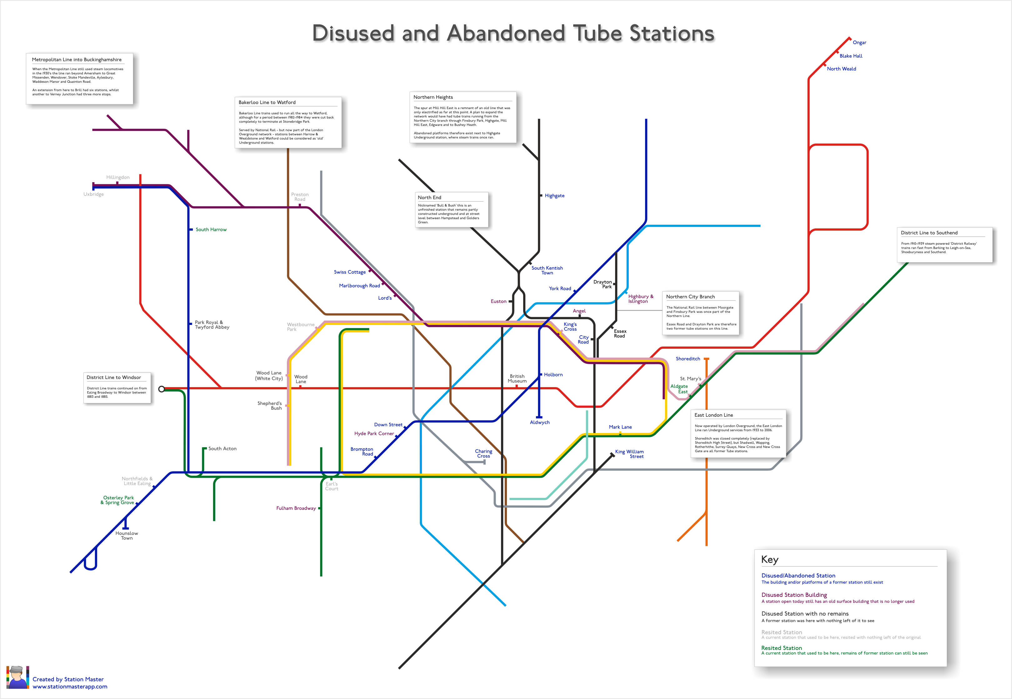 Londons Ghost Stations Mapped Londonist - Northern line map london