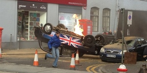 Black Cab Blows Up: 24 Filming In London