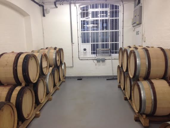 Wine ageing in barrels