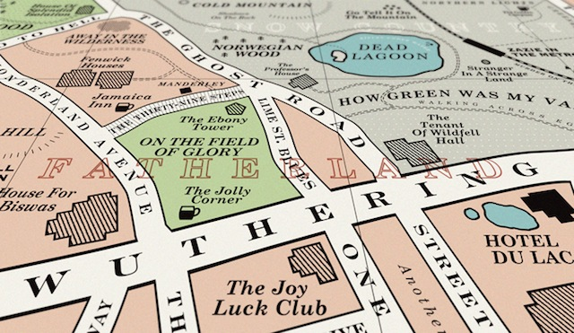 A Beautiful Book Map Based On London