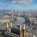 The regeneration of the Nine Elms area, an originally underused industrial area which will soon be transformed.