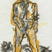 Ein neuer Type ('A New Type'), 1965, Georg Baselitz (b.1938). Presented to the British Museum by Count Christian Duerckheim. Reproduced by permission of the artist. © Georg Baselitz