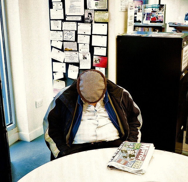 Fast Asleep in the Library by deepstoat via Flickr