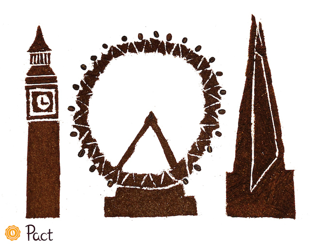 Pact Coffee Creations: Big Ben, London Eye, The Shard