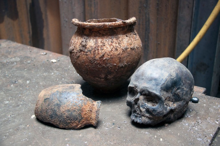 Crossrail Archaeology Exhibition Features Roman Skulls