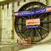 Canary Wharf Crossrail tunnel head looks like a wheel!