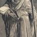 Domenico Beccafumi  St Philip, c. 1544-47  Chiaroscuro woodcut printed from three blocks, the tone blocks in grey and blue, 39.6 x 20.9 cm  Albertina, Vienna  Photo Albertina, Vienna