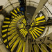 Oval tube's spiral staircase.