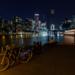 Millwall Inner Dock at night by Michael S. Schwarzer via Flickr