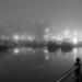 Foggy Poplar Dock at night by Gurpreet via Flickr