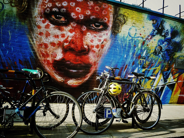 Shoreditch and its wheels by unslugged on Flickr