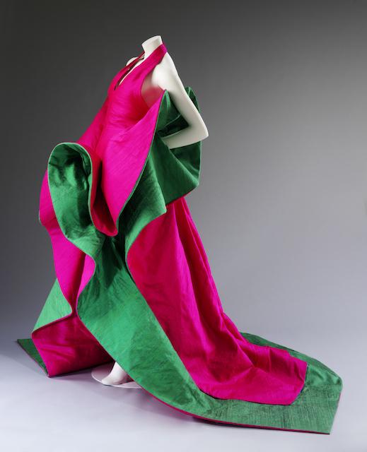 Evening dress of silk by Roberto Capucci, 1987-1988. Courtesy Roberto Capucci Foundation. Photo © Victoria and Albert Museum, London.