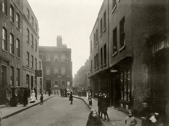 In Spital Square, looking towards the main market