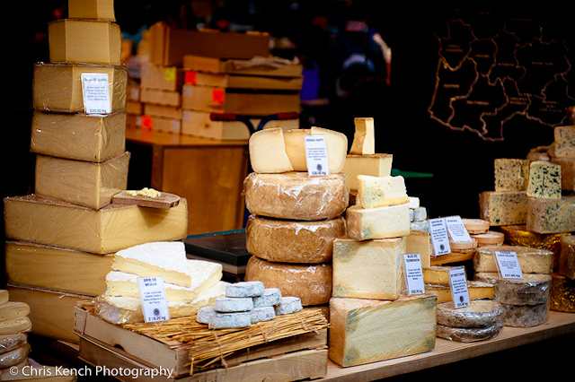 Cheese wheels at Borough Market by Chris Kench Photography on Flickr