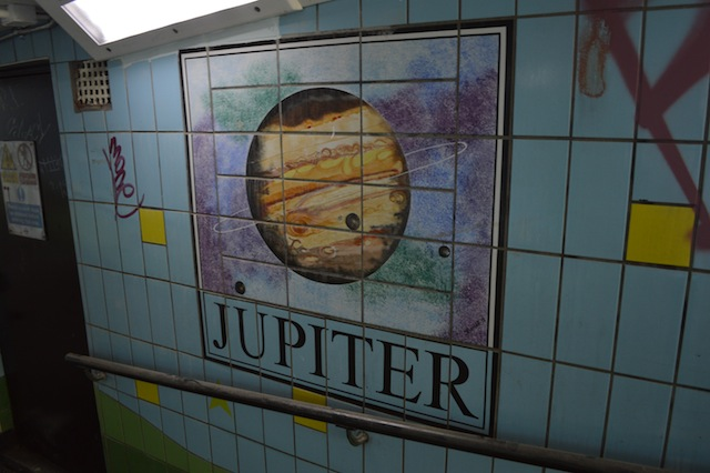 A tiny solar system hidden in a north London subway