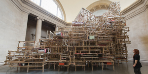 Playful Scaffolds By Phyllida Barlow At Tate Britain