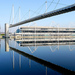 Geometrical reflection of Royal Victoria Dock Bridge, by Lee Rathmell on Flickr