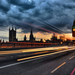 Light lines on Westminster Bridge, by vilartoni on Flickr