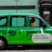 Green cab, by roll the dice on Flickr.