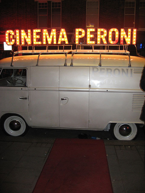 Cinema Peroni at the entrance to Clapham Picture House by Kirsteen
