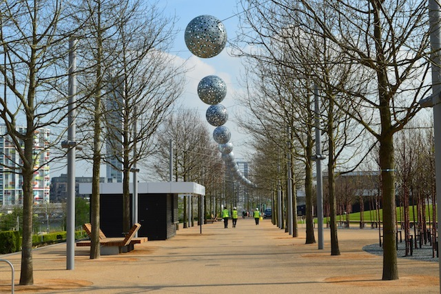 One of the avenues near the ArcelorMittal Orbit.