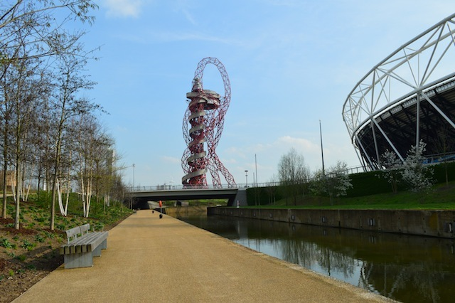 Re-landscaped pathways follow the park's rivers.