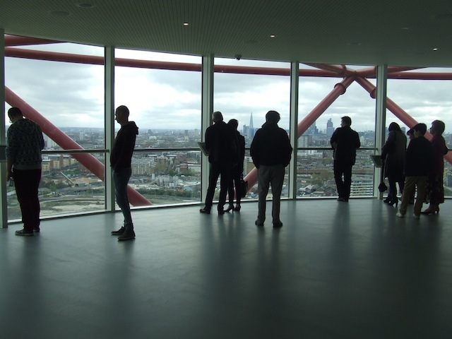 The ArcelorMittal viewing platform.