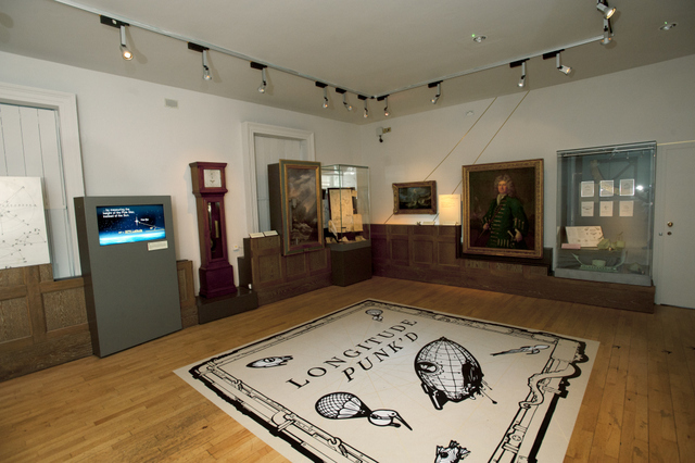 Longitude Punk'd Exhibition in the Longitude Gallery. Royal Observatory Greenwich.