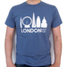 Londonist t-shirt, both in cardinal red and indigo blue
