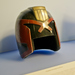 Judge Dredd's helmet loaned by DNA Films - producers of 'Dredd'. Photography (c) Tony Antoniou