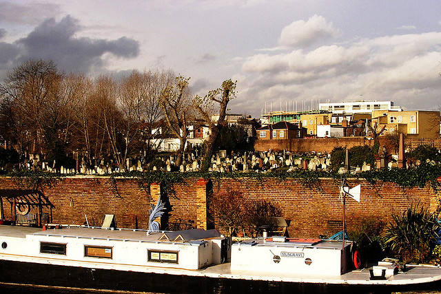 Kensal Green Cemetery by the canal, by Edward Simpson on Flickr