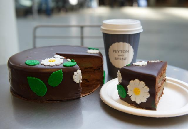 Cape jasmine and milk chocolate cake at Peyton and Byrne