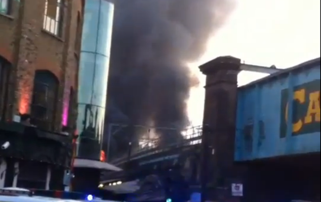 Camden's Stables Market On Fire