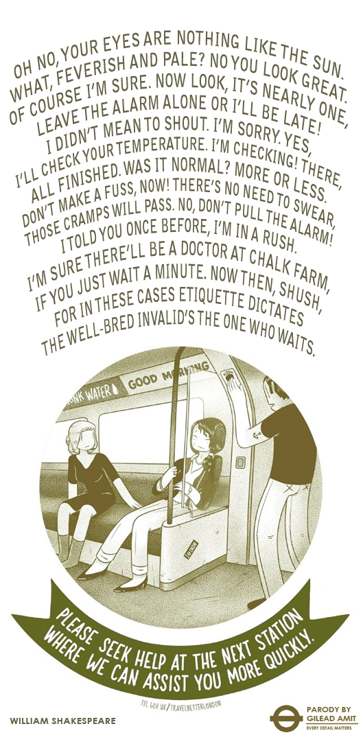 Tube Etiquette Posters, In The Words Of The Great Poets