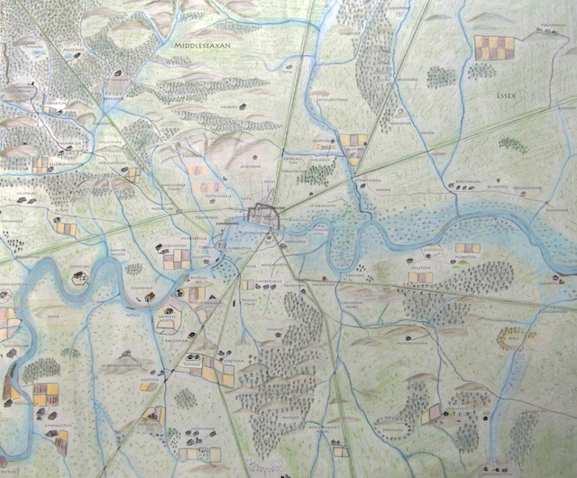 Londonist Anglo Saxon Map of London (roughly speaking, 500-1066AD)